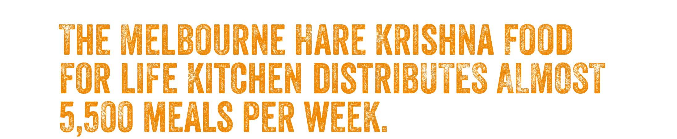 Distributing almost 5, 500 meals per week