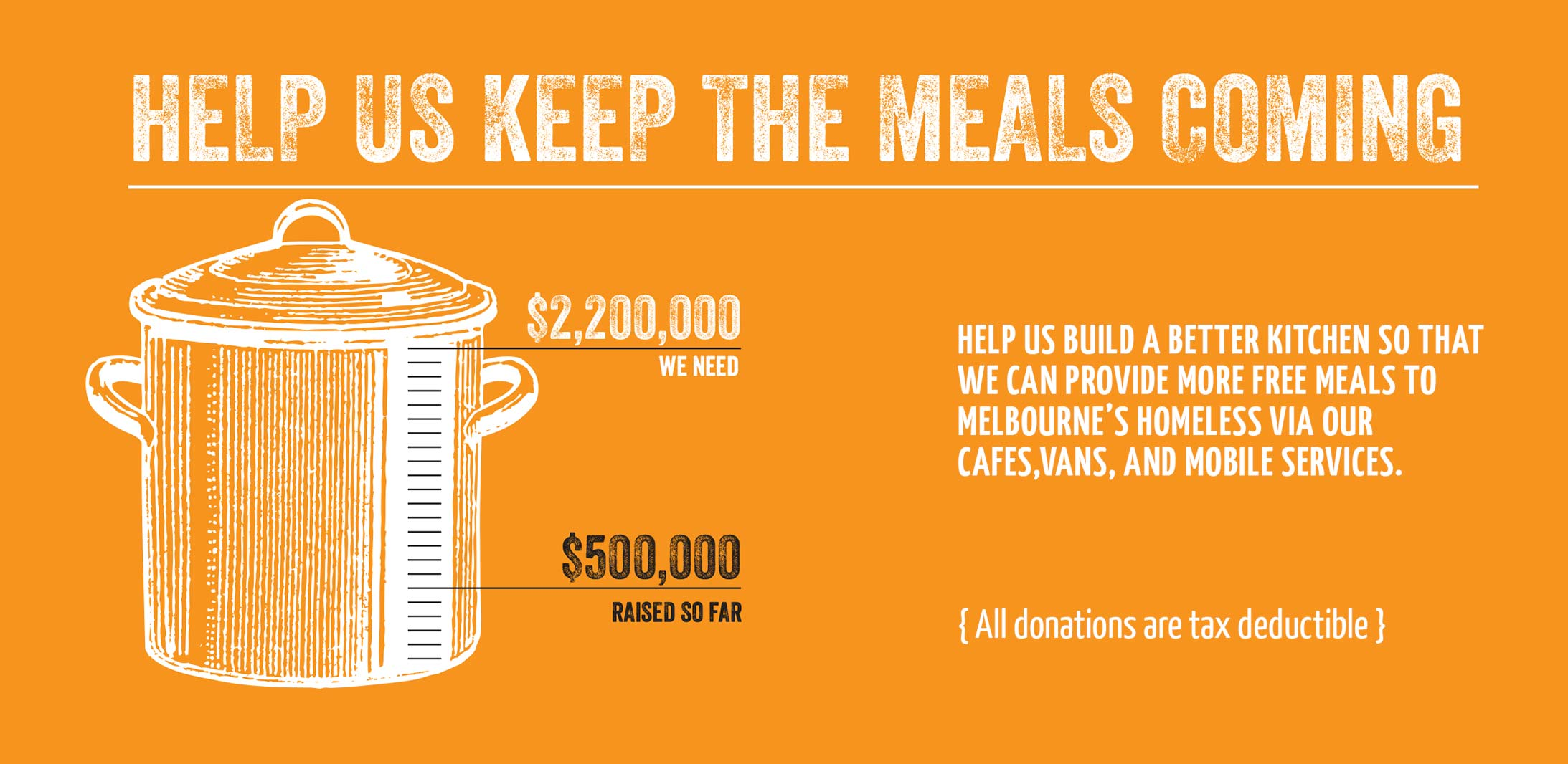 Help us keep the meals coming